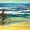 Along The Surf by Csilla Florida