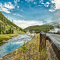 Along The Volcanic Yellowstone Road by Andres Leon