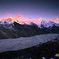 Alpenglow Lights The Summit Of Mt by Dan Rafla
