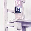 Alphabet Blocks Chair by Edward Fielding