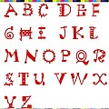 Alphabet With Multicolor by Barbara Griffin