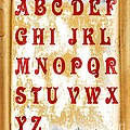 Alphabet With Scroll 2 by Barbara Griffin