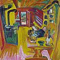 Alpine Kitchen by Ernst Ludwig Kirchner