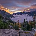 Alpine Lakes Morning Cloudscape by Mike Reid