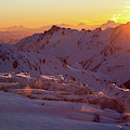 Alpine Sunset On High Alpine Glacier by Jonathan Griffith
