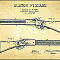 Alston Firearm Patent Drawing From 1887- Vintage by Aged Pixel