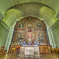 Altar In An Old Chapel by Krzysztof Hanusiak