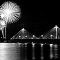 Alton Fireworks Black And White by Scott Rackers