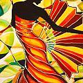 Alysia The Fan Dancer Caye Caulker Belize by Lee Vanderwalker