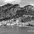 Amalfi Coast Monochrome by Kate McKenna