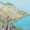 Amalfi Coast Praiano Italy by Mary Ellen Mueller Legault