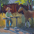 Amanda At The Hitching Post by Diane McClary