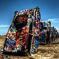 Amarillo - Cadillac Ranch 004 by Lance Vaughn