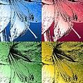 Amaryllis Pop Art by J McCombie