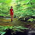 Amazon Jungle Trail by Stanley Morganstein