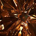 Amber Crystal Snowflake by Linda Shafer