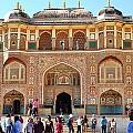Amber Fort Entrance To Living Quarters - Jaipur India by Kim Bemis