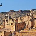 Amber Fort View - Jaipur India by Kim Bemis