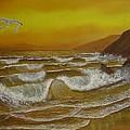 Amber Sunset Beach Seascape by Gianluca Cremonesi