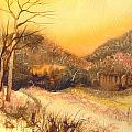 Amber Sunset by Joye Moon