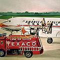 American Dc-6 At Columbus by Frank Hunter