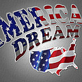 American Dream Digital Typography Artwork by Georgeta Blanaru