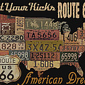 American Dream-route 66 by Jean Plout
