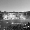 American Falls - Autumn - B N W by Richard Andrews