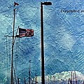 American Flag As A Painting by Karl Rose