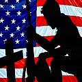 A Time To Remember American Flag At Rest by Bob Orsillo