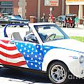 American Flag Car by Optical Playground By MP Ray
