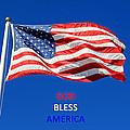 American Flag - God Bless America by Barbara West