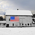 American Flag On A Pennsylvania Barn by Bill Cannon