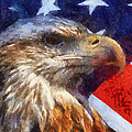 American Flag Photo Art 04 by Thomas Woolworth