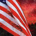 American Flag Photo Art 08 by Thomas Woolworth