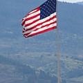 American Flag Star Valley by Shawn Hughes