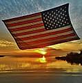 American Flag Sunset 14 2/18 by Mark Lemmon