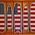 American Flag Surfboards Original Painting By Mark Lemmon by Mark Lemmon