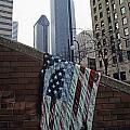 American Flag Tattered by Jim Corwin