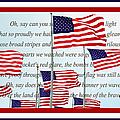 American Flag Tribute  by Regina Geoghan