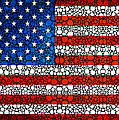 American Flag - Usa Stone Rock'd Art United States Of America by Sharon Cummings
