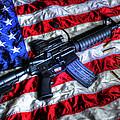 American Flag With Rifle by Geoffrey Coelho