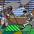 American Football - Broncos by Randall Henrie
