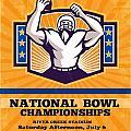 American Football National Bowl Poster Art by Aloysius Patrimonio