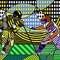 American Football - Steelers by Randall Henrie