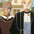 American Gothic Cat by Gail Eisenfeld