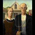 American Gothic Duvet by Grant Wood