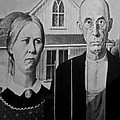 American Gothic In Black And White 1 by Rob Hans