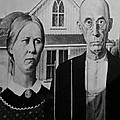 American Gothic In Black And White by Rob Hans