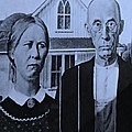 American Gothic In Cyan by Rob Hans